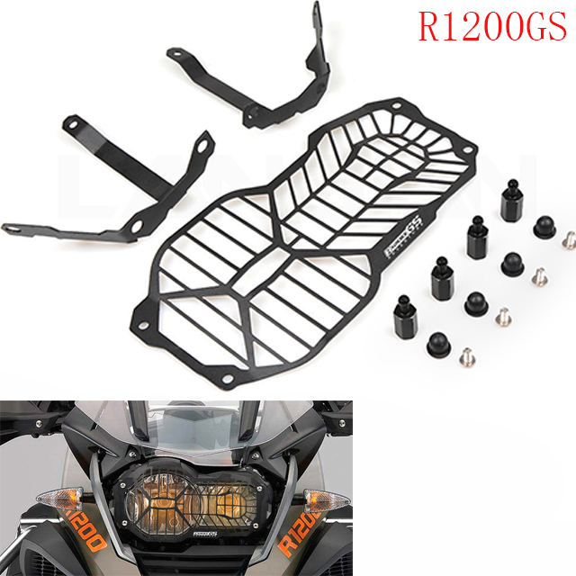 CNC Motorcycle Headlight Protector Grill Guard Cover For BMW R1200GS R 1200 GS LC / Adventure R1200 GS 2012-2018 2013 2014 2015 motorcycle aluminum rear brake fluid cover protector cover fite for bmw r1200gs lc 2013 2016 r1200gs adventure lc 2014 2016