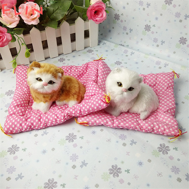 Simulation  Stuffed Cats Home Decorations Toys Lovely Animal Doll Plush Lazy Sleeping Gifts Fiesta Plush Toy With Sound Crafts 2