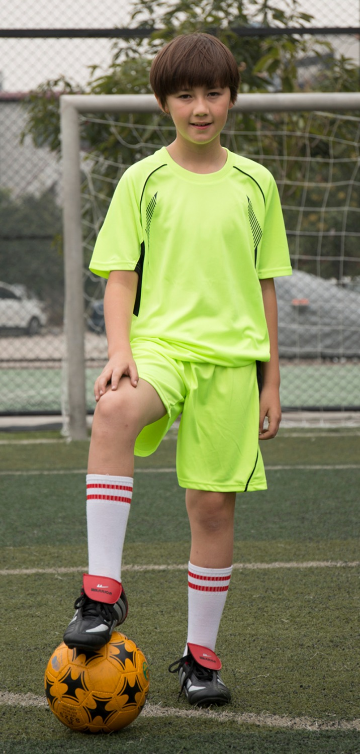 68b80e90d kids blank short sleeve soccer sets children football jerseys youth sport  suits running kits customized name and number -in Soccer Sets from Sports  ...