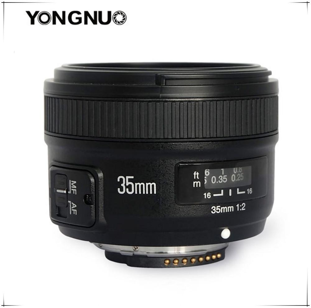 Yongnuo 35mm lentille YN35mm F2.0 objectif grand angle fixe/objectif de mise au point automatique premier pour Canon 600d 60d 5DII 5D 500D 400D 650D 600D 450D