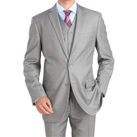 New New Arrival Smoking Costume Homme Light Wedding Suits For Men 3 Pieces Tuxedos For Groom Notched Lapel (jacket+pants+vest)