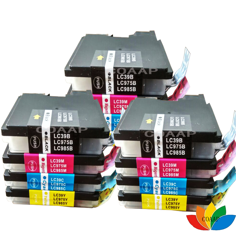 12 x LC985 LC39 LC975 Compatible ink Cartridge for Brother DCP J125 J315W J515W MFC J265W J410 J415W J220 Printer12 x LC985 LC39 LC975 Compatible ink Cartridge for Brother DCP J125 J315W J515W MFC J265W J410 J415W J220 Printer