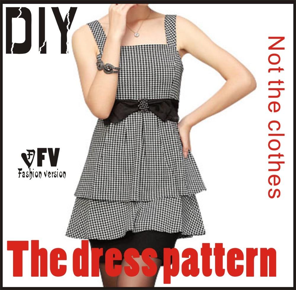 R1679 Roupas Diy O Vestido Vestidos De Padrão De Costura Corte Desenho Blq 13 In Padrões De Costura From Casa E Jardim On Aliexpress