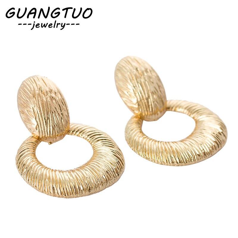 Punk Geometric Water Drop Hollow Round Circle Drop Earrings For Women Gift Ear Bijoux Female Dangle Brincos New Arrivals EB2197