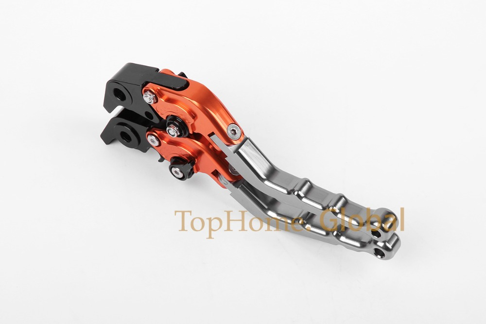 Top quality CNC Foldable Folding Fingers Wave Brake Clutch Levers For Triumph Tiger 800/XC 2011-2014 Titanium&Black&Orange 2012 top quality cnc foldable folding fingers wave brake clutch levers for kawasaki ninja 650r er 6f er 6n 2006 2008 red