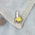 Забавный Банан! Креативная эмалированная брошь 18 X для взрослых с фруктами и бананами, булавки для рюкзаков, пальто, свитера, шапок, куртки дл...