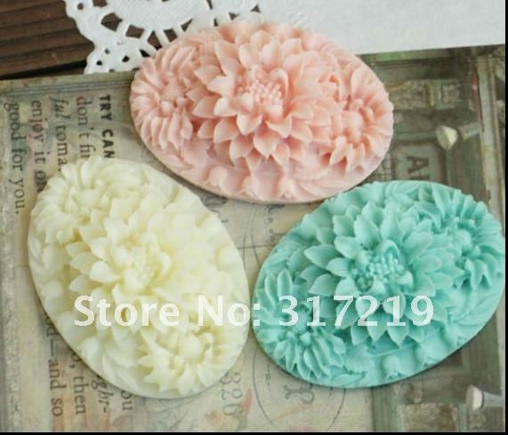 Бесплатная доставка! Плоские обратно 36*48 мм Разноцветные Europea Смола Цветы для DIY decoration.50pcs/лот