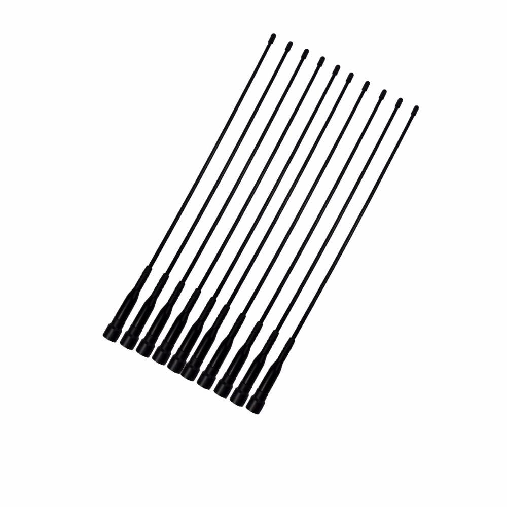 imágenes para 10 unids digital de walkie talkie antena sma-m vhf 136-174 mhz de largo 14.17in para retevis rt1 rt8 j9106e