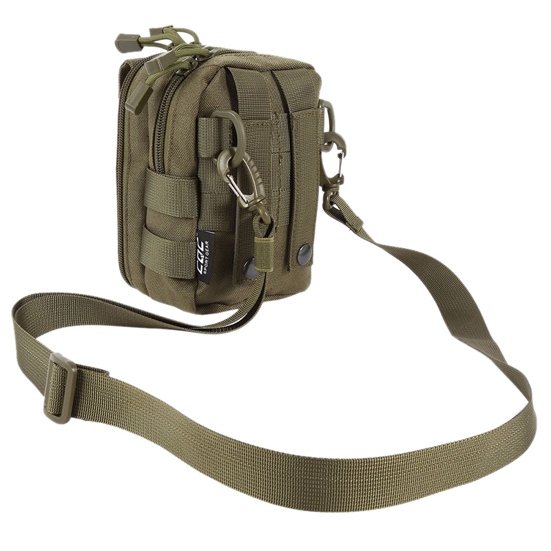 600D Nylon Waist Bag Waterproof Molle Utility Sport Backpack Sling Shoulder Bags For Travel Hiking Outdoor