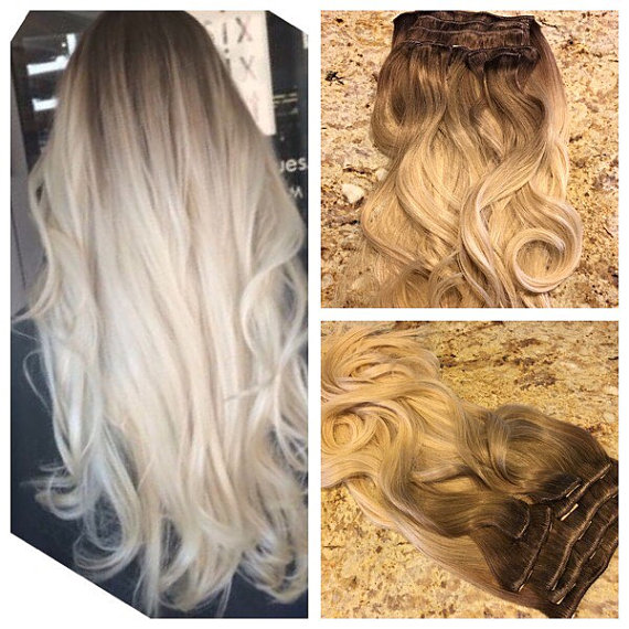 Remy clip in hair extensions wavy human hair ombre balayage virgin remy clip in hair extensions wavy human hair ombre balayage virgin hair clip extensions color pmusecretfo Image collections