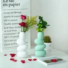 Minimalist ceramic creative art Skew flowers vase pot home decor crafts room wedding decorations handmade porcelain figurines аккумуляторная дрель шуруповерт makita 14 4v 1 5ah x2 case df347dwle