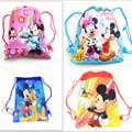 1pcs non-woven fabric backpack Minnie mickey party supplies child travel school bag decoration mochila cartoon drawstring bag