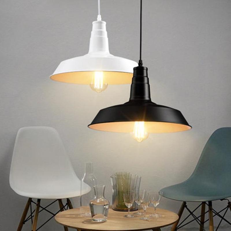 ФОТО Vintage Loft Metal Pendant lights Industrial Black Rustic Iron Lampshade Hanging Lamp Suspension Luminaire Bar restaurant Lights