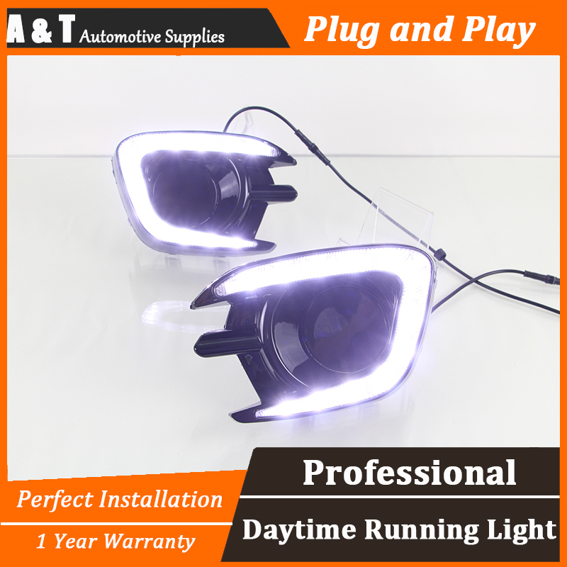 A&T car styling For Mitsubishi Pajero LED DRL For Pajero led fog lamps daytime running light High brightness guide LED DRL for lexus rx gyl1 ggl15 agl10 450h awd 350 awd 2008 2013 car styling led fog lights high brightness fog lamps 1set