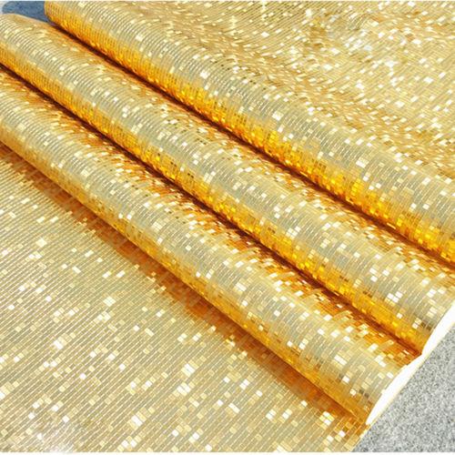 Купить с кэшбэком Q QIHANG Modern Luxury Gold Foil Mini Mosaic Background Flicker Wallpaper Roll Gold Color 0.53m*10m=5.3m2