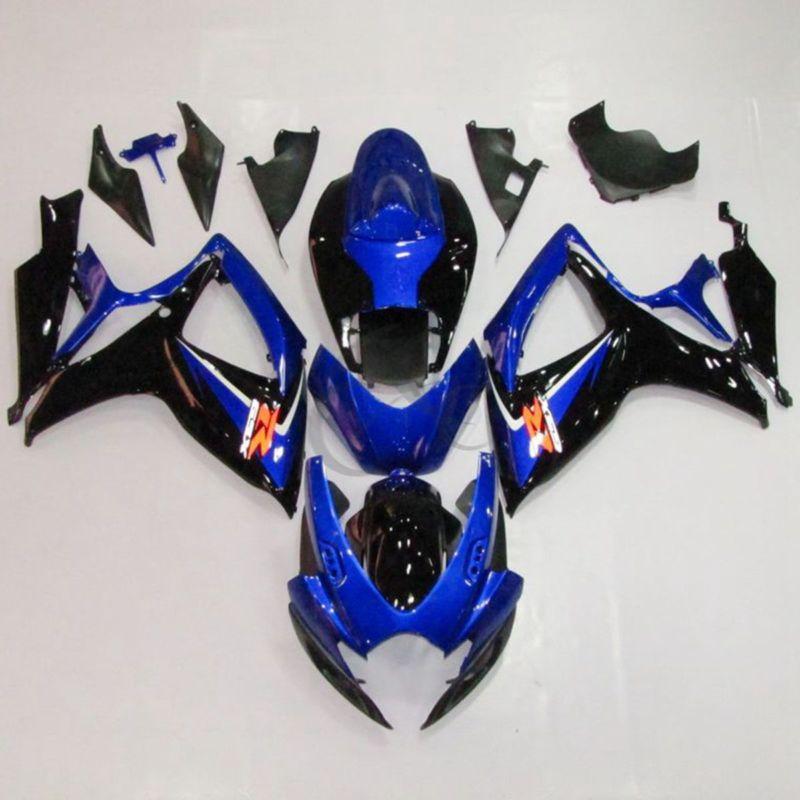 Синий ABS пластик кузова обтекатель обтекатель Комплект для Suzuki GSXR 600 750 06-07 K6, который 21Б