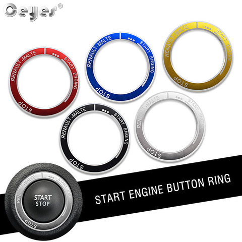 Ceyes Car Styling Engine Start Stop Ignition Key Ring Accessories Case For Renault Koleos Kadjar Captur Megane Sticker Car Cover Pakistan