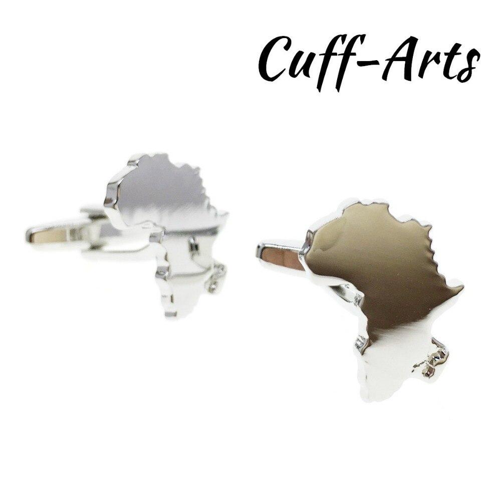 Cuffarts Map Of Africa Cufflinks 2018 Cuff Links Jewelry Innovative Gemelos De Lujo Gifts Attractive C10150