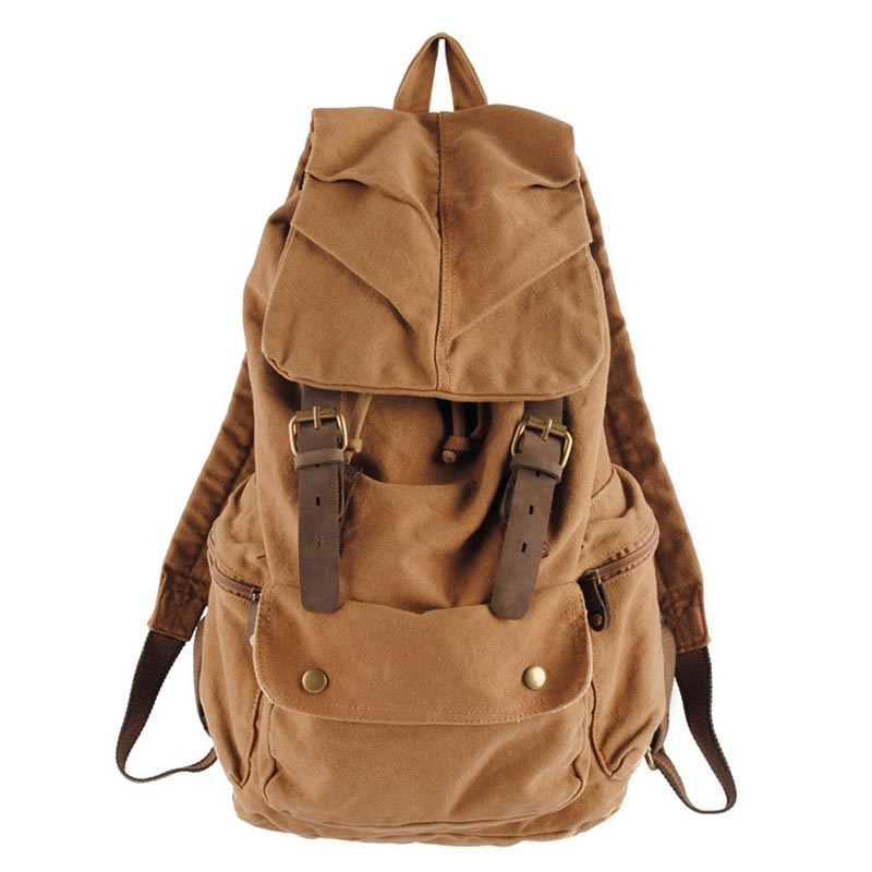 Drop shipping New Vintage Leather Military Shoulder Bags Men/Women Backpack school bag Unisex Rucksack Casual Canvas Travel Bags new fashion women and men backpack vintage bag canvas school bags large capcity rucksack travel double shoulder bag