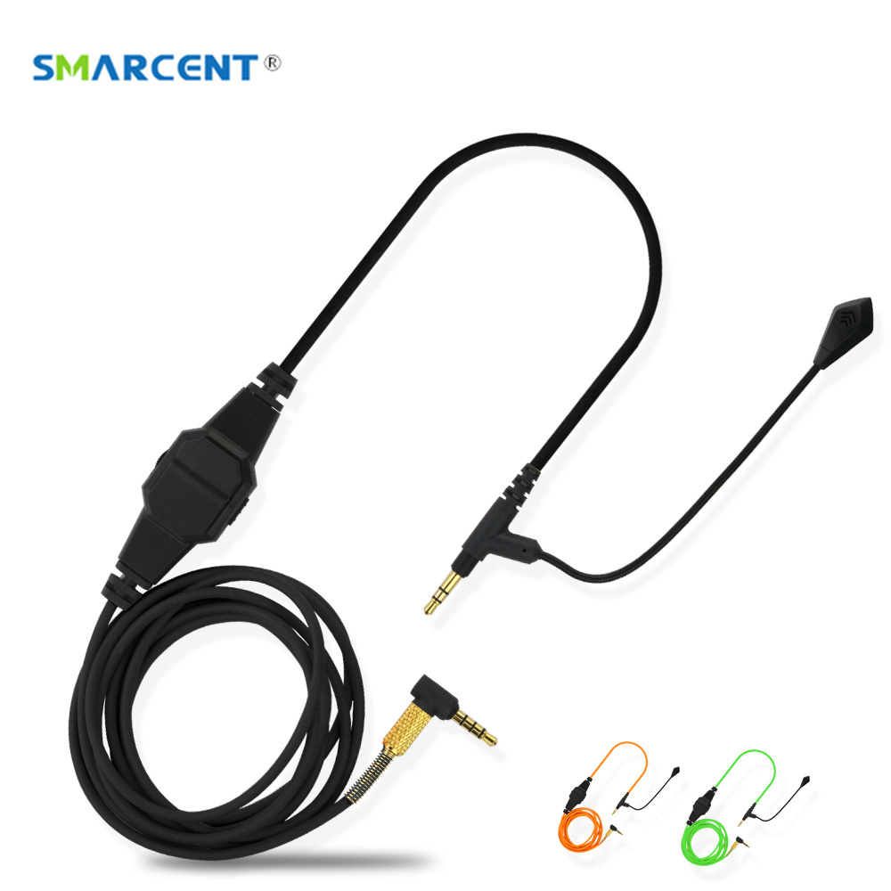 VoIP Headphone Cable with Microphone for Boompro Gaming Headset V-MODA Crossfade M-100 LP LP2 M-80 Audio Line with Mute Switch