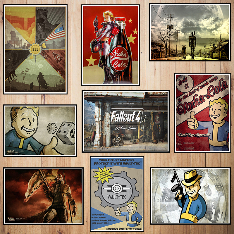 Fallout Game Coated paper poster Cafe Creative wallpaper Interior Decoration image