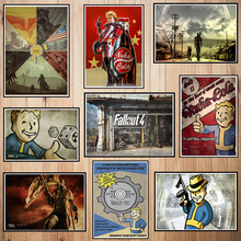 Fallout Game Coated paper poster Cafe Creative wallpaper Interior Decoration Free Shipping