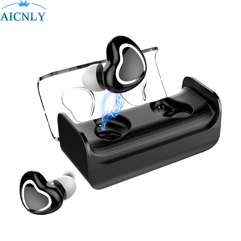 Mini M9 Tws Bluetooth Earphones True Wireless Earbuds Stereo Music Headsets Hands-free With Mic Charging Box For xiami Phones