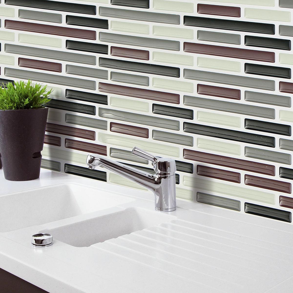 azulejo de mosaico pegatinas pvc etiqueta de la pared bao cocina etiqueta de la pared decoracin