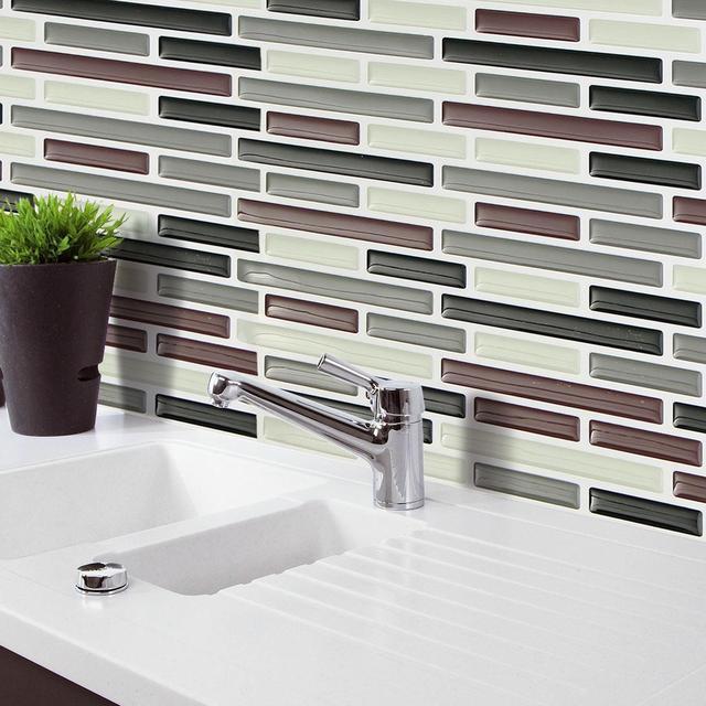 Mosaik Fliesen Aufkleber PVC Wandaufkleber Bad Wasserdicht Selbstklebende  Tapete Küche Für Wandtattoo Home Dekoration