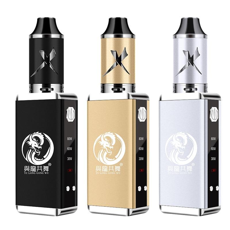 80 watt Elektronische Zigarette Vape Elektronische Vape E Stift Zigaretten Box 2200 mah Starter Kit Tragbare Dampf 4 ml