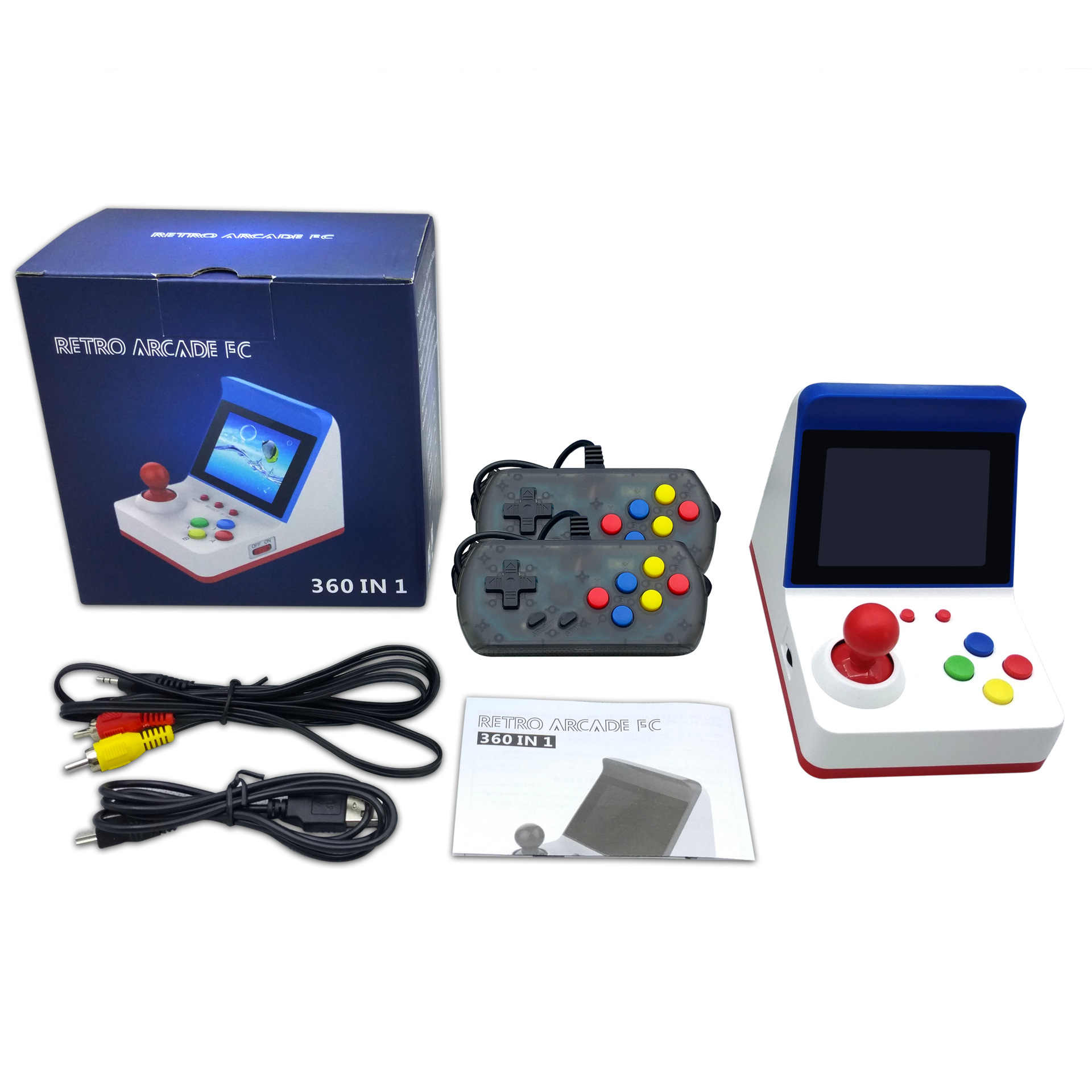 10 шт. 8 бит портативная игровая консоль двойной видеоплеер мини Ретро 360