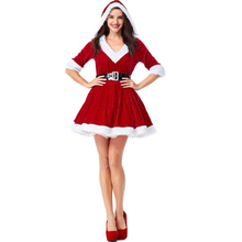 2018 New Arrival Womens Santa Claus Costume Halloween Adult Performance Cosplay Clothing