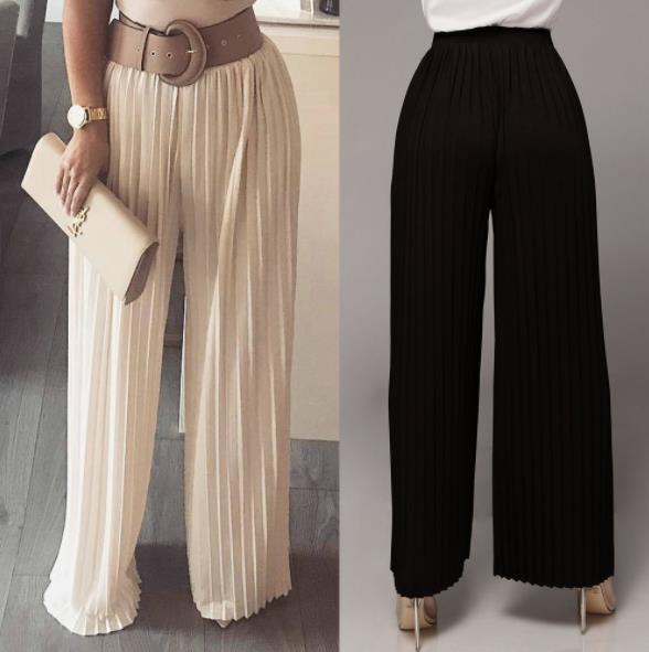 Sweatpants 2019 New Polyester Loose Elastic Waist None Mid Flat Hot Pants Women Solid Color Wide Leg Women 39 s Trousers Plus Size in Pants amp Capris from Women 39 s Clothing