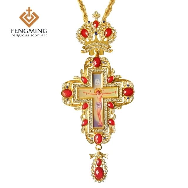 Orthodox greek cross jesus crucifix pendants plated gold rhinestones orthodox greek cross jesus crucifix pendants plated gold rhinestones high quality chain religious jewelry pastor craft aloadofball Gallery