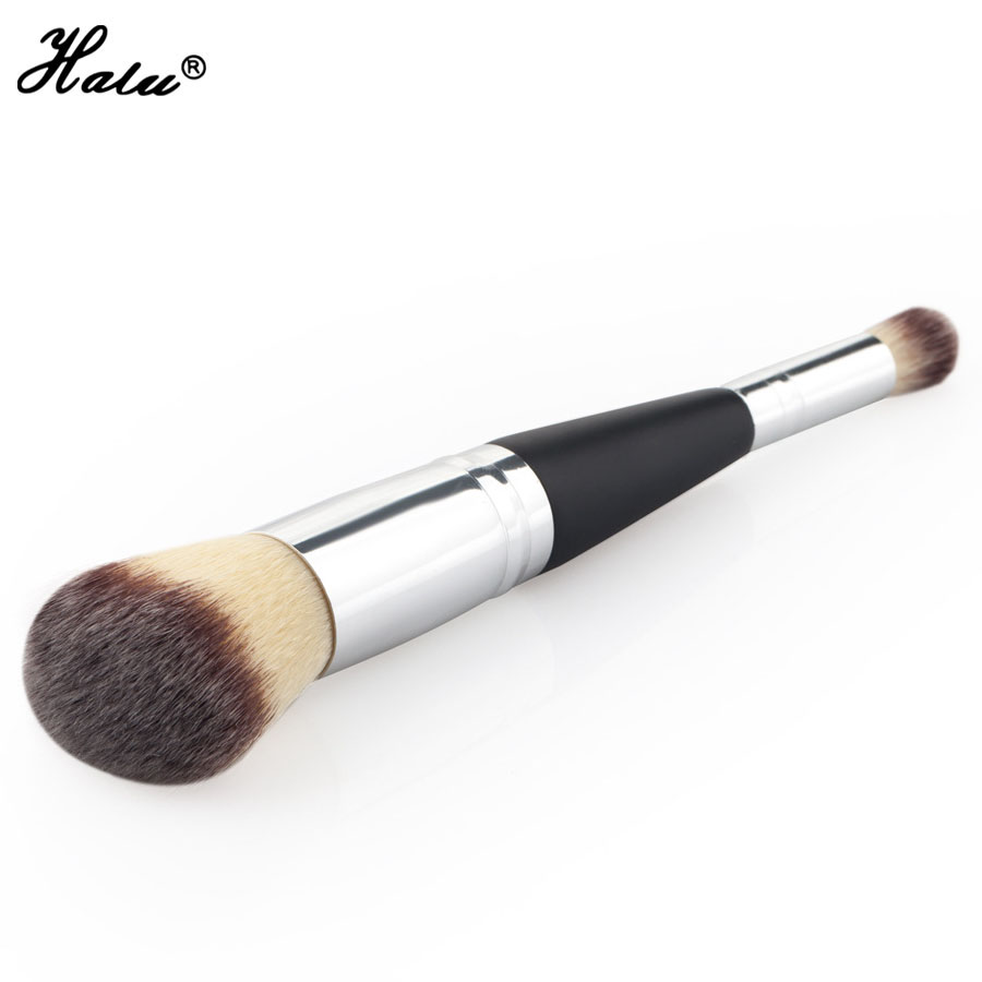 все цены на  HaLu Double Ends Eye Shadow Blush Brush Synthetic Hair Cosmetic Brush Wood Handle Professional Product Single Makeup Beauty Tool  в интернете
