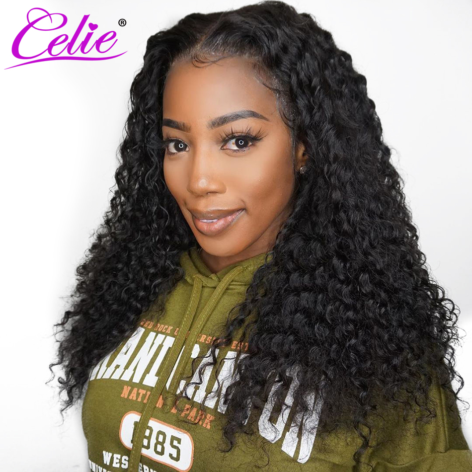 Celie Deep Wave Wig 360 Lace Frontal Wig Pre Plucked With Baby Hair 180 250 Density