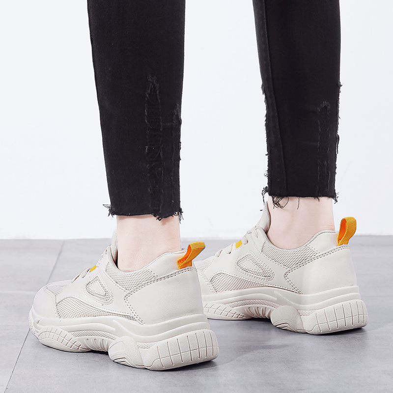 Retro Dirty Women 39 s Chunky Sneaker 2019 Fashion Vintage Platform Women Dad Sneakers Thick Sole Shoes Flats Female Casual Shoes in Women 39 s Flats from Shoes