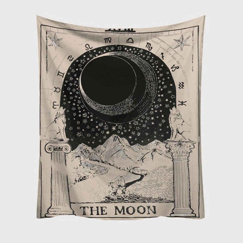 2019 ใหม่ล่าสุด Tapestry แขวนผนังโพลีเอสเตอร์ TAROT Card ผ้าห่ม Tapestry ผ้าคลุมเตียง Home Decor