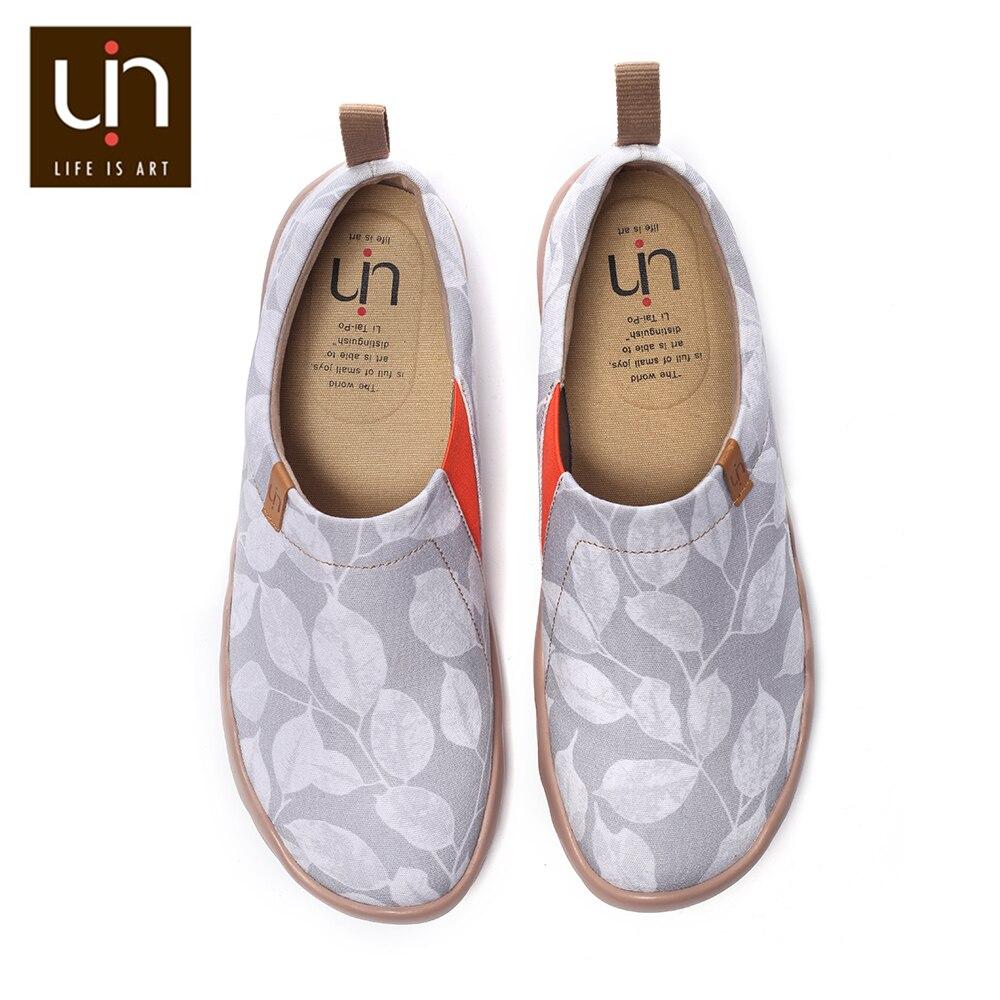 Zwycięstwo namiętny Flomar projekt na co dzień Slip on mokasyny damskie płócienne trampki oddychająca moda podróży mieszkania w Damskie buty typu flats od Buty na  Grupa 1