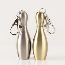 Outdoor Survival Tool Flint Fire Starter Lighter Matches Portable Bowling Survival Tool Lighter With Keychains NO OIL