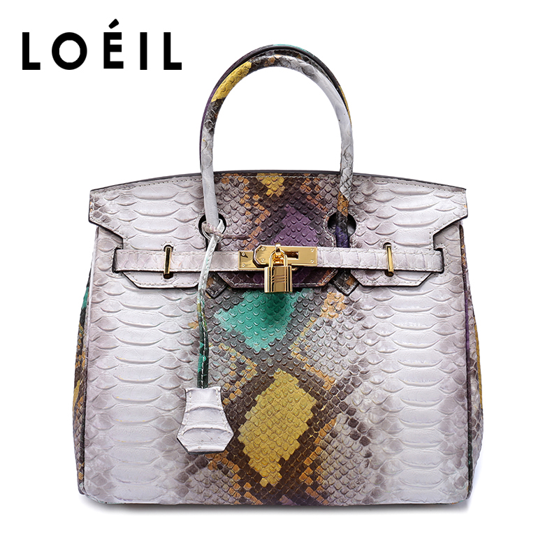 LOEIL ladies bag Serpentine Cowhide leather shoulder bag women Crossbody Bags Fashion Women Handbags loeil leather ladies bag european and american fashion handbags shoulder messenger bag cowhide handbags bag