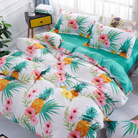 Tropical plants Tropical style Green plant printed bedding set for comforter queen single twin sizes bed linens set new 3pcs|Bedding Sets| |  -