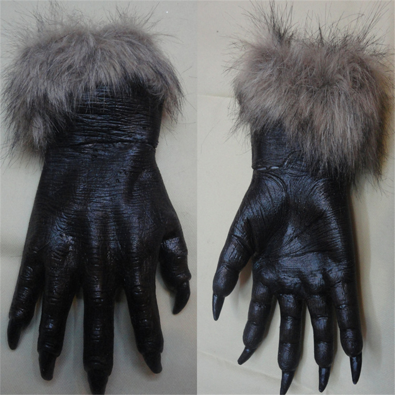 Halloween Role-playing Display Gloves Wolf Gloves Wolf Head Glove Dall Gloves For Men And Women