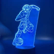 3d Led Night Light Manga Captain Tsubasa Football Player Figure Indoor Room Kids Nightlight Kyaputen Table Lamp Bedside