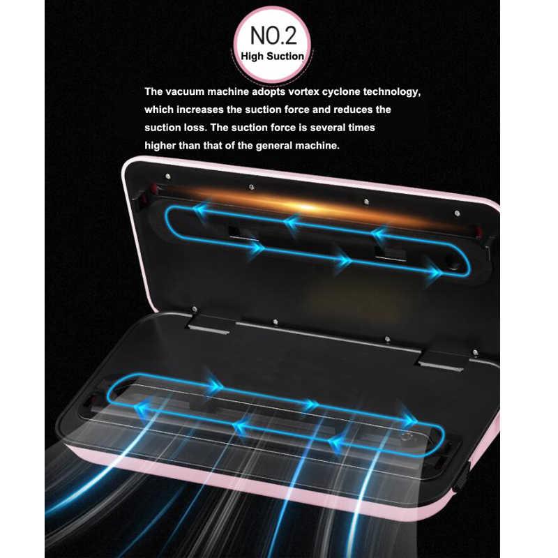 Rumah Tangga Makanan Vacuum Sealer Mesin Kemasan dengan 10 Pcs Tas Gratis 220V Otomatis Komersial Terbaik Makanan Vacuum Sealer Mini