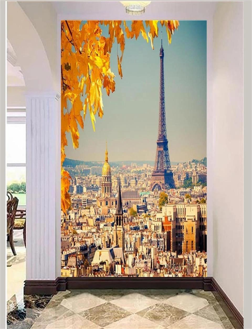 Lukisan Dinding 3d : lukisan, dinding, Wallpaper, Custom, Lukisan, Dinding, Ruang, Teras, Paris, Menara, Eiffel, Pemandangan, 3d|wallpaper, Walls, 3d|3d, Wallpaperphoto, AliExpress