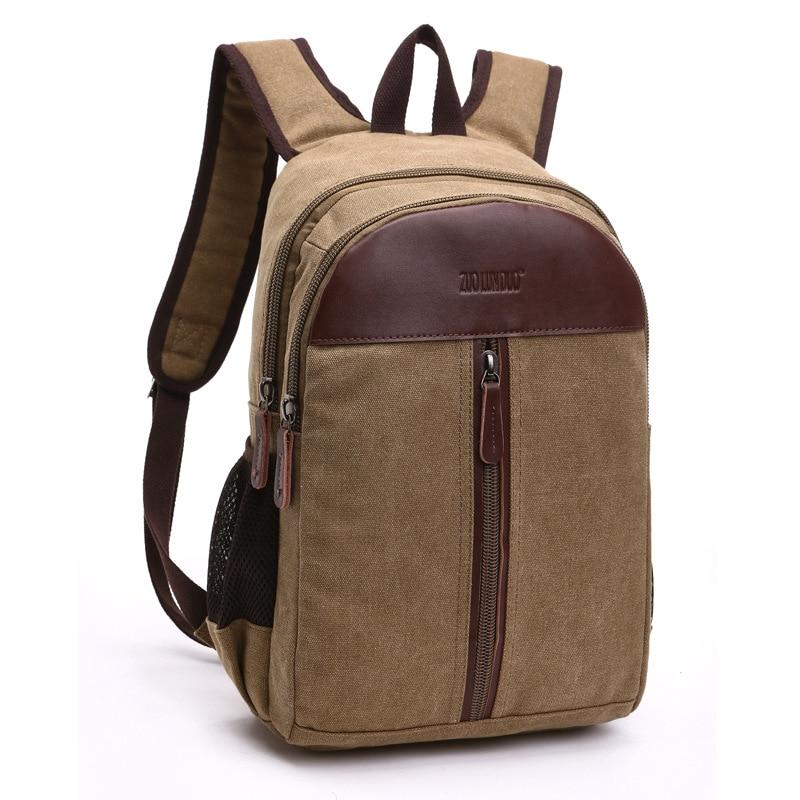 Vintage Canvas Men Backpack Preppy Style Schoolbags Travel Bag Trendy Laptop Bags Weekend Mochila B9