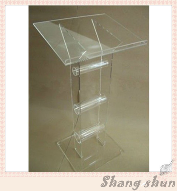Modern clear acrylic perspex lectern podium church pulpit