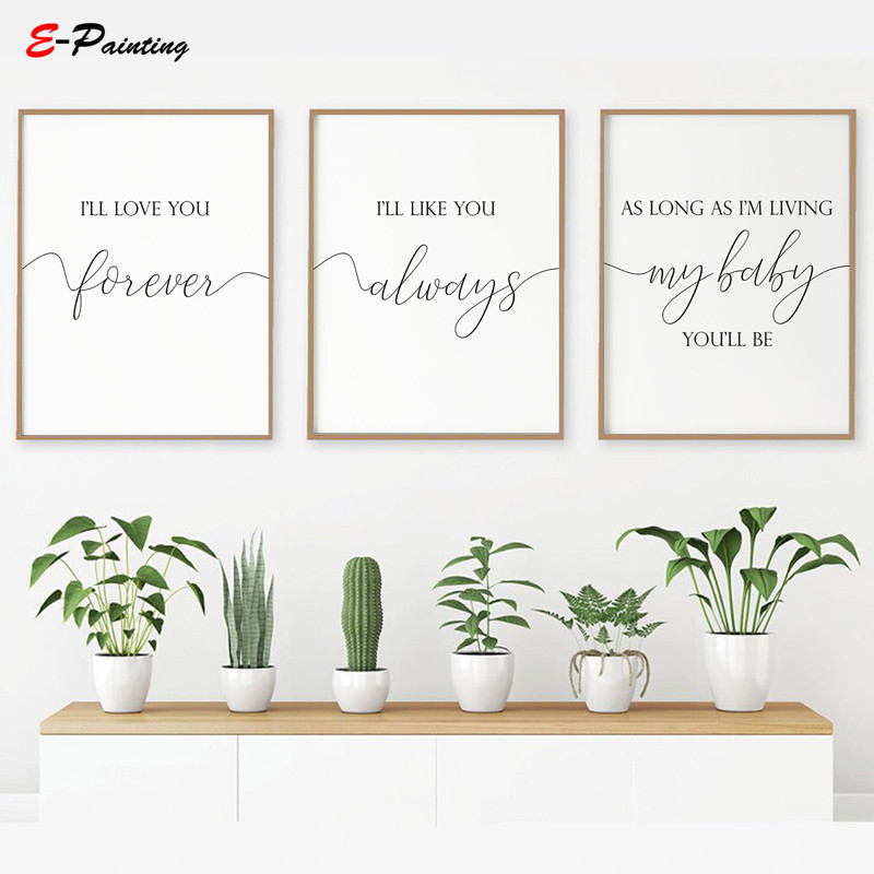 Wall Art Nursery I Ll Love You Forever
