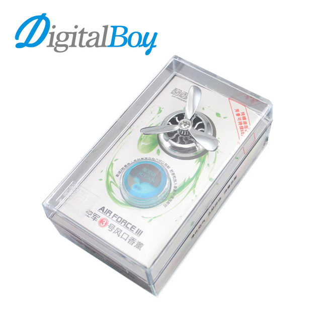 Digitalboy New Air Freshener Air Conditioner Outlet Vent Clip Mini Fan Aircraft Head Perfume Fragrance Scent Lemon Essential Oil